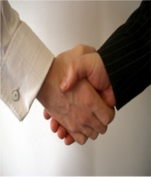 Men Giving a Handshake